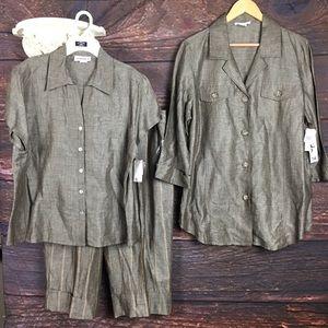 Nordstrom David N brand 3 pc linen casual suit